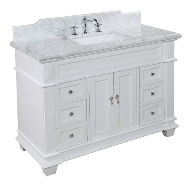 48 Inch White Bathroom Vanity
