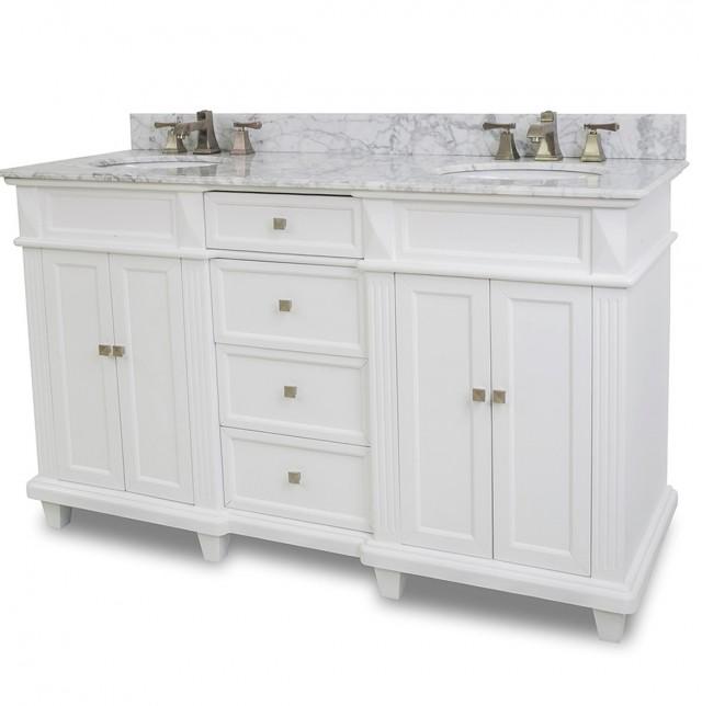 60 Inch White Bathroom Vanity