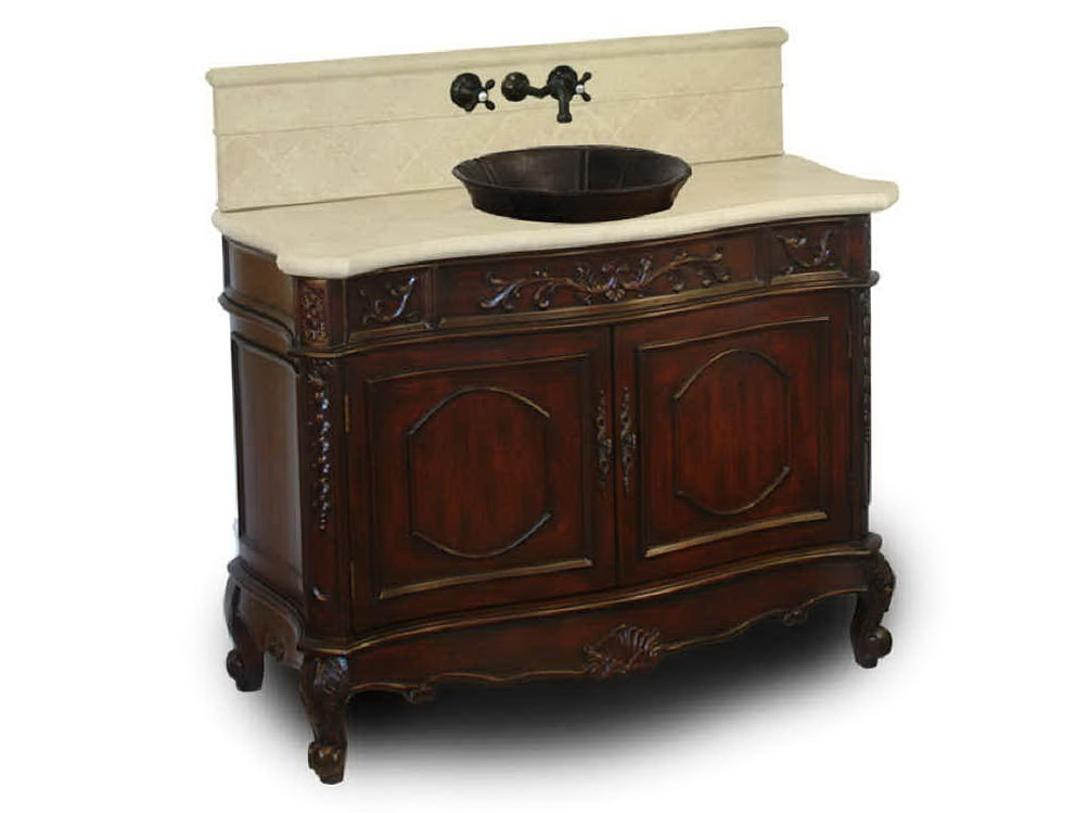 Antique Bathroom Vanity With Vessel Sink Home Design Ideas