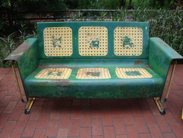 Antique Metal Porch Glider