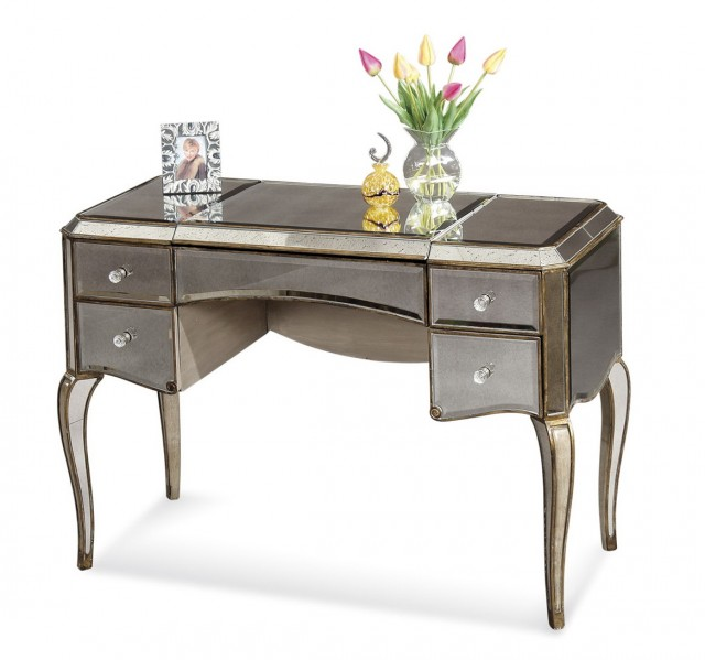 Antique Vanity Desk With Mirror