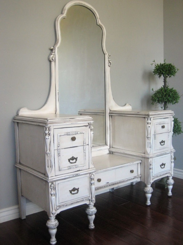 Antique White Makeup Vanity - Antique Makeup Vanity With Mirror Home Design Ideas