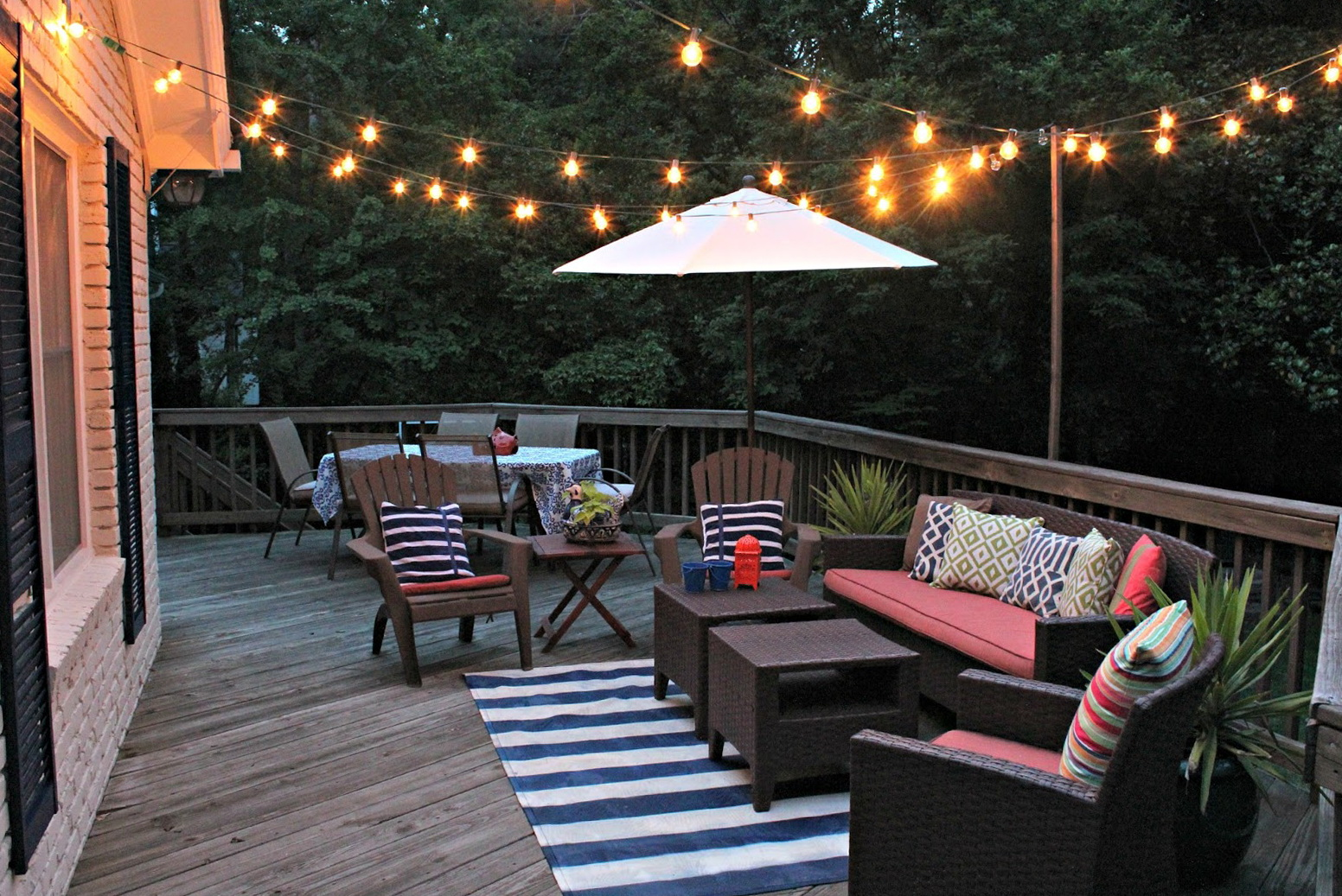 Back Porch String Lights Home Design Ideas