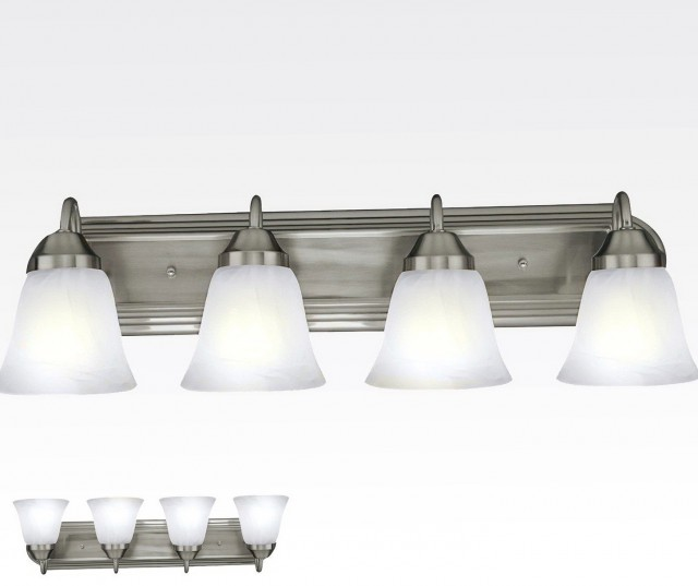 Bathroom Vanity Light Fixtures Brushed Nickel