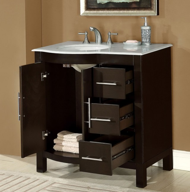 Bathroom Vanity With Sink On Left Side