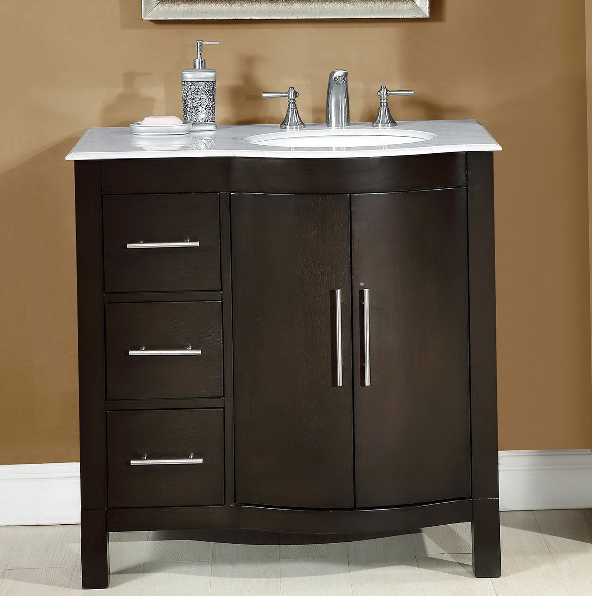 bathroom vanity with sink on right side home design ideas. Black Bedroom Furniture Sets. Home Design Ideas