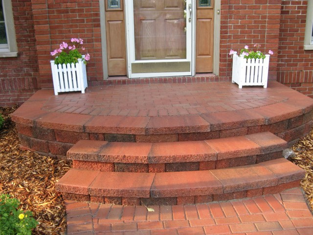 Brick Front Porch Steps Curved