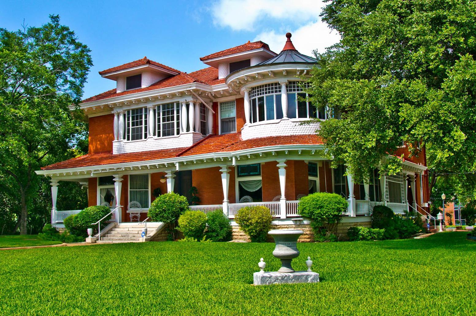 brick homes with wrap around porches home design ideas