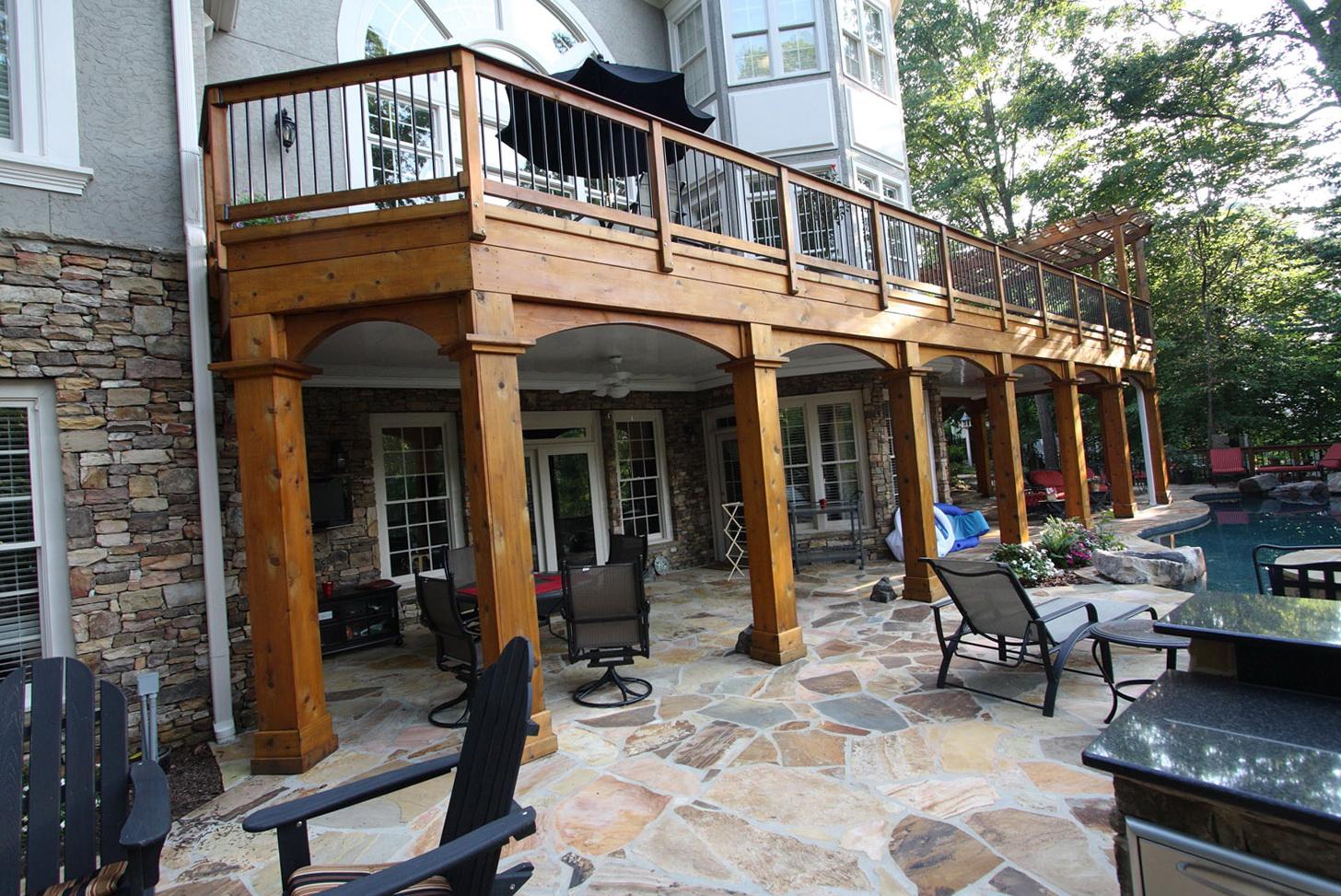 Cedar Porch Post Wraps   Home Design Ideas