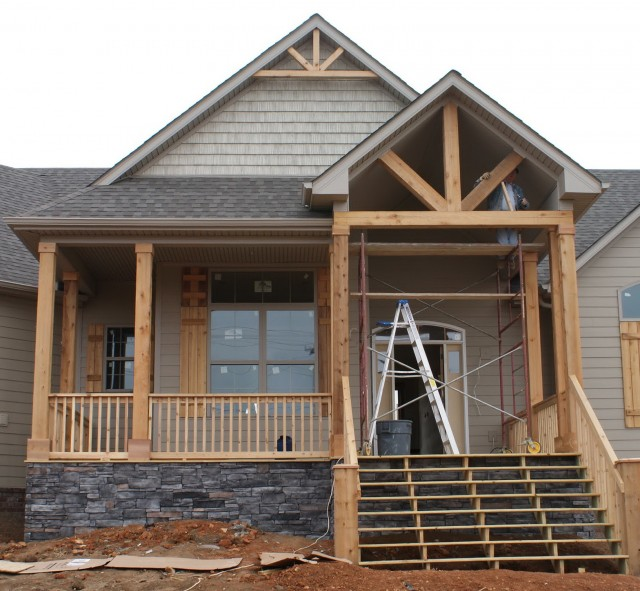 Cedar Posts Front Porch