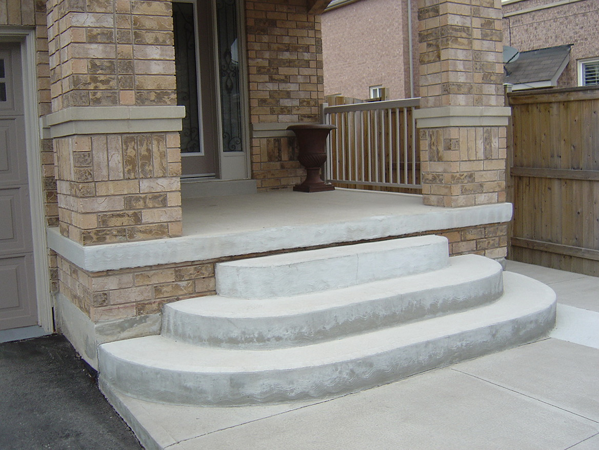Concrete Front Porch Steps Home Design Ideas
