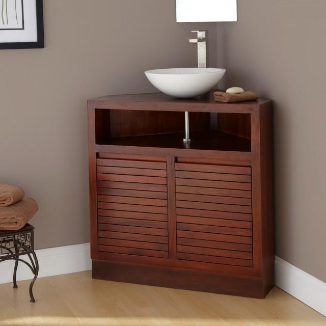 Corner Bathroom Vanity Cabinet