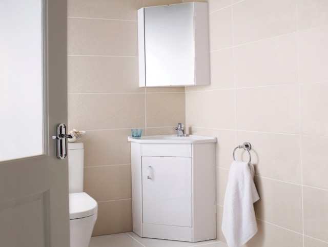 Corner Bathroom Vanity Set