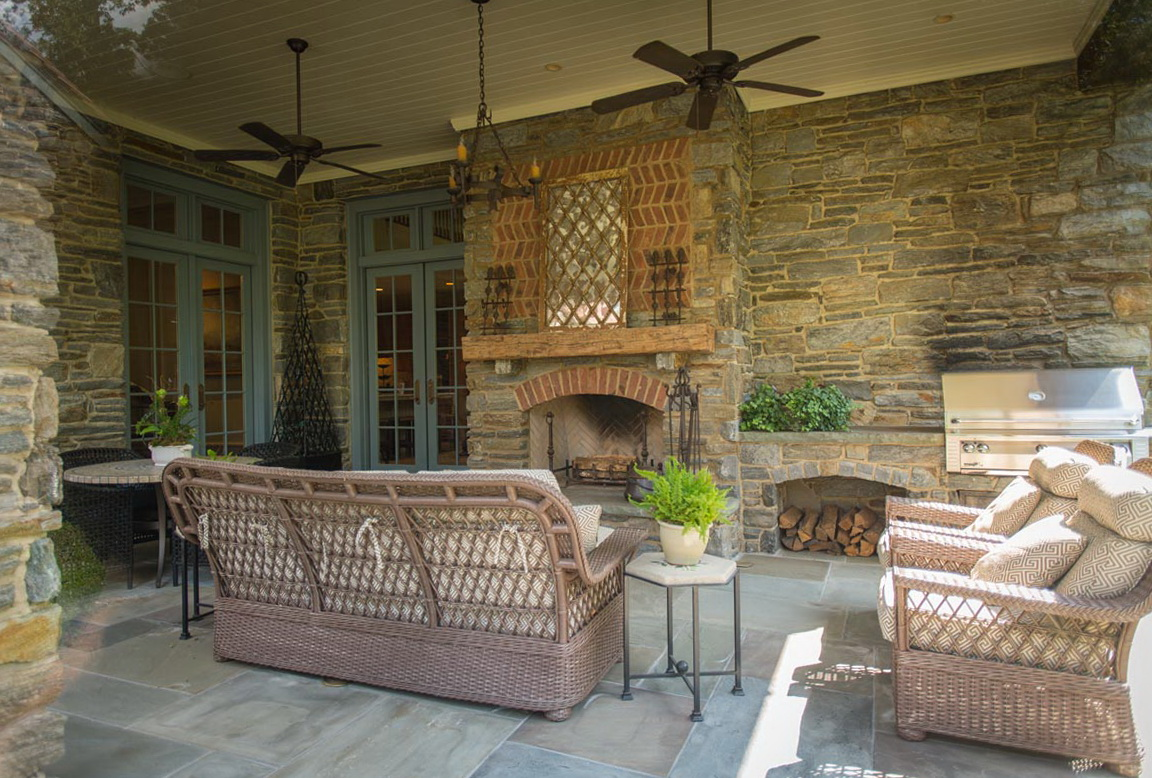 Covered Back Porch With Fireplace | Home Design Ideas