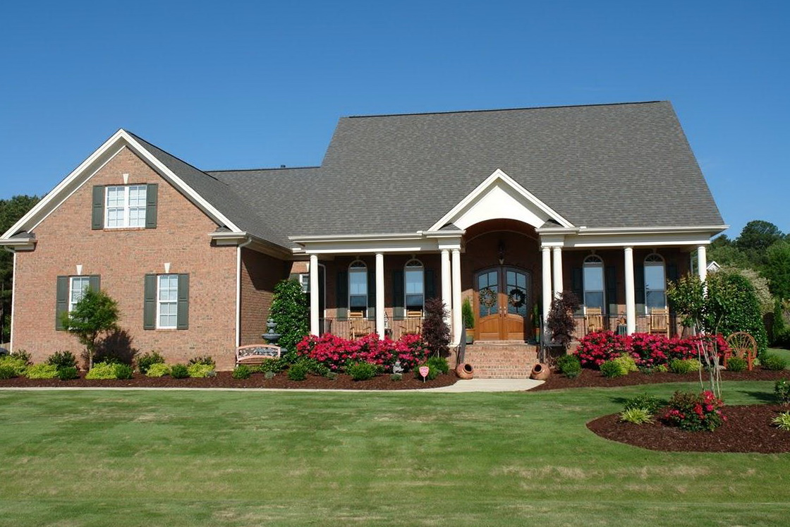 Covered Front Porch Ranch House