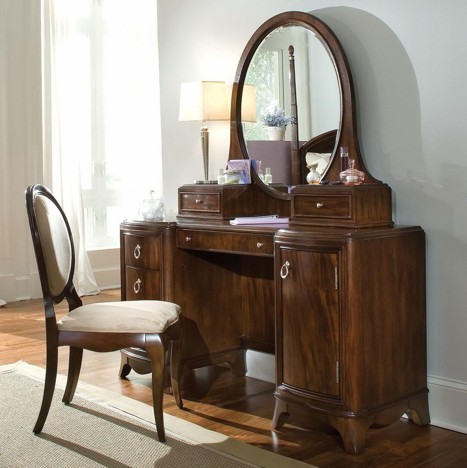 oak makeup vanity set. Dark Wood Bedroom Vanity Set  Home Design Ideas