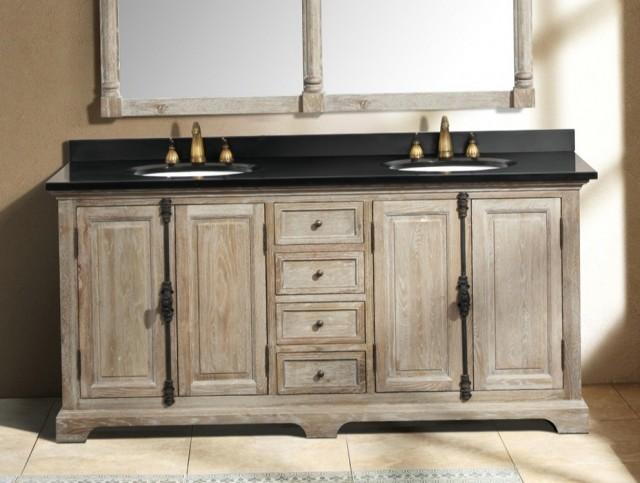 Distressed Wood Bathroom Vanities Home Design Ideas