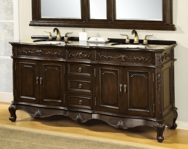 Double Bathroom Vanities With Granite Tops