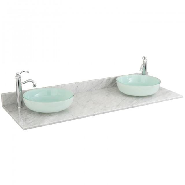 Double Sink Vanity Top 61