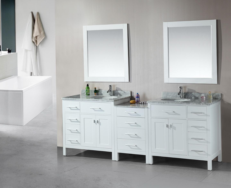 Double Sink Vanity White