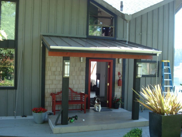 Front Porch Metal Roof