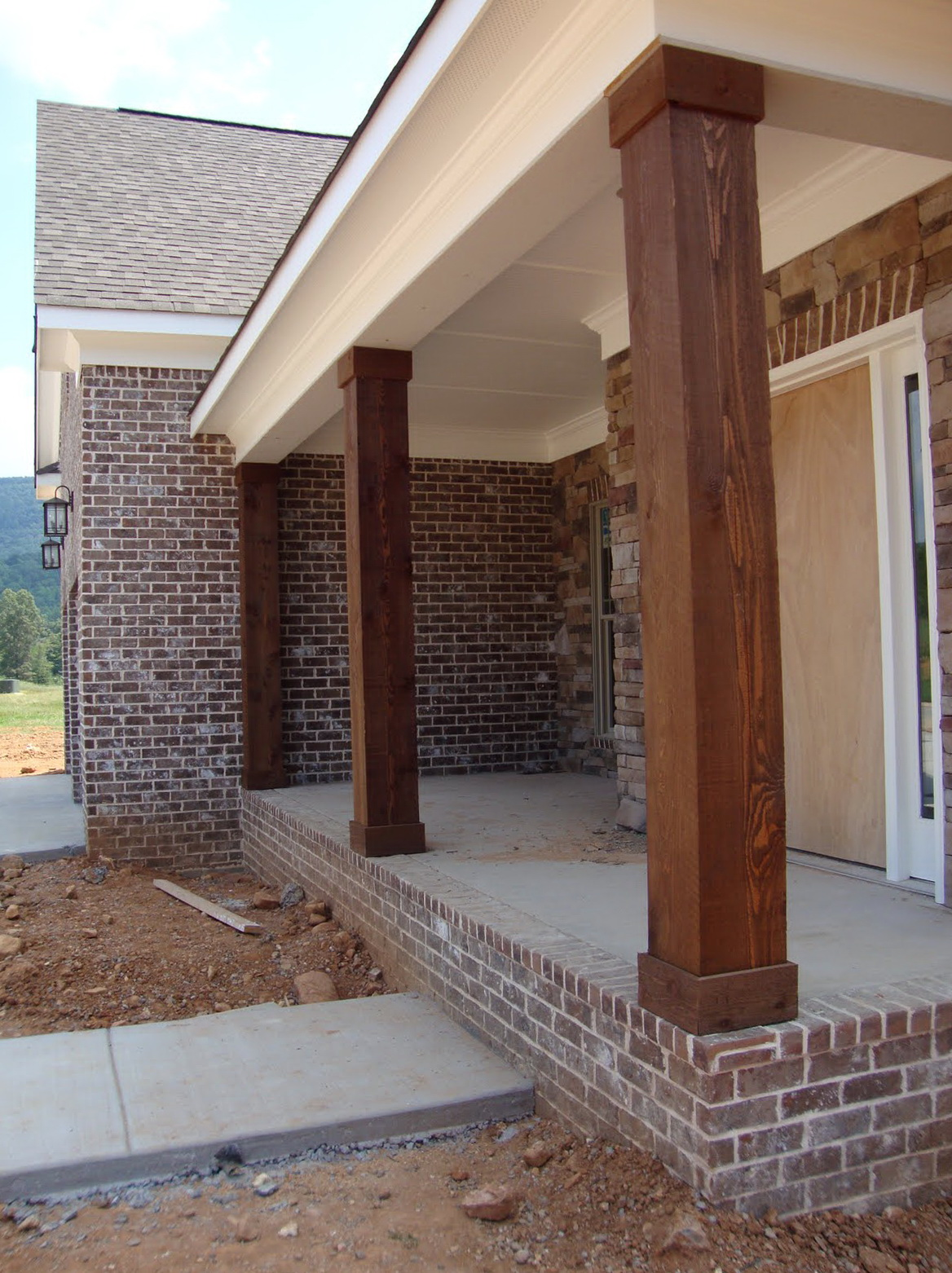 Front Porch Post Wraps Home Design Ideas