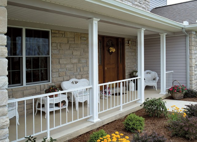 porch vinyl structural with posts ny lowes vynil new rail buffalo railings