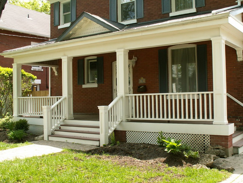 Front porch railings photos home design ideas for Front balcony railing
