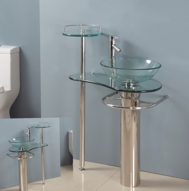 Glass Bathroom Vanity Tops