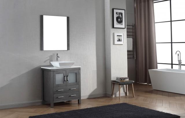 Gray Bathroom Vanity Base