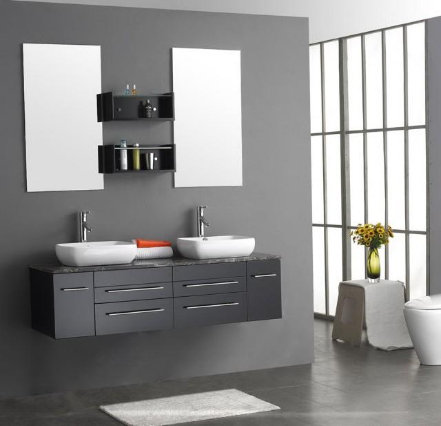 Grey Bathroom Vanity Cabinet