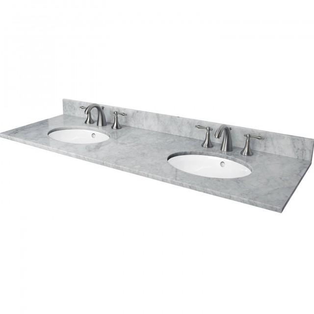 Marble Double Sink Vanity Top