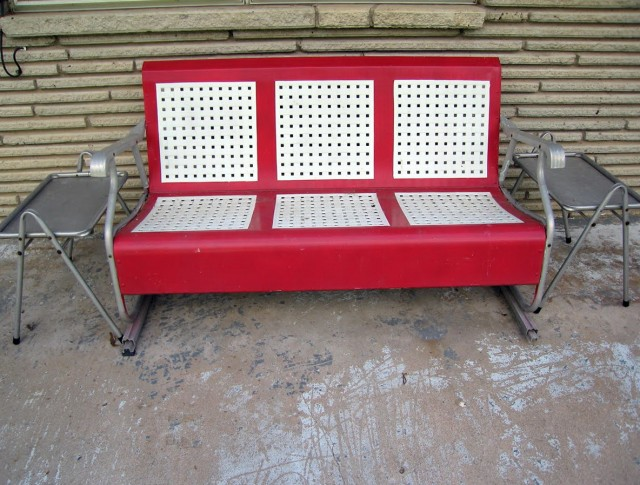 Vintage Metal Porch Glider For Sale Home Design Ideas