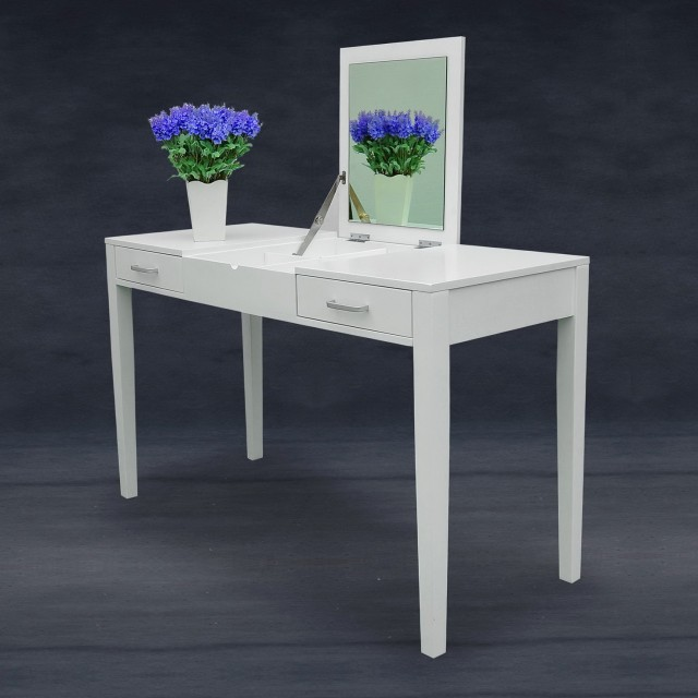 Modern White Vanity Table