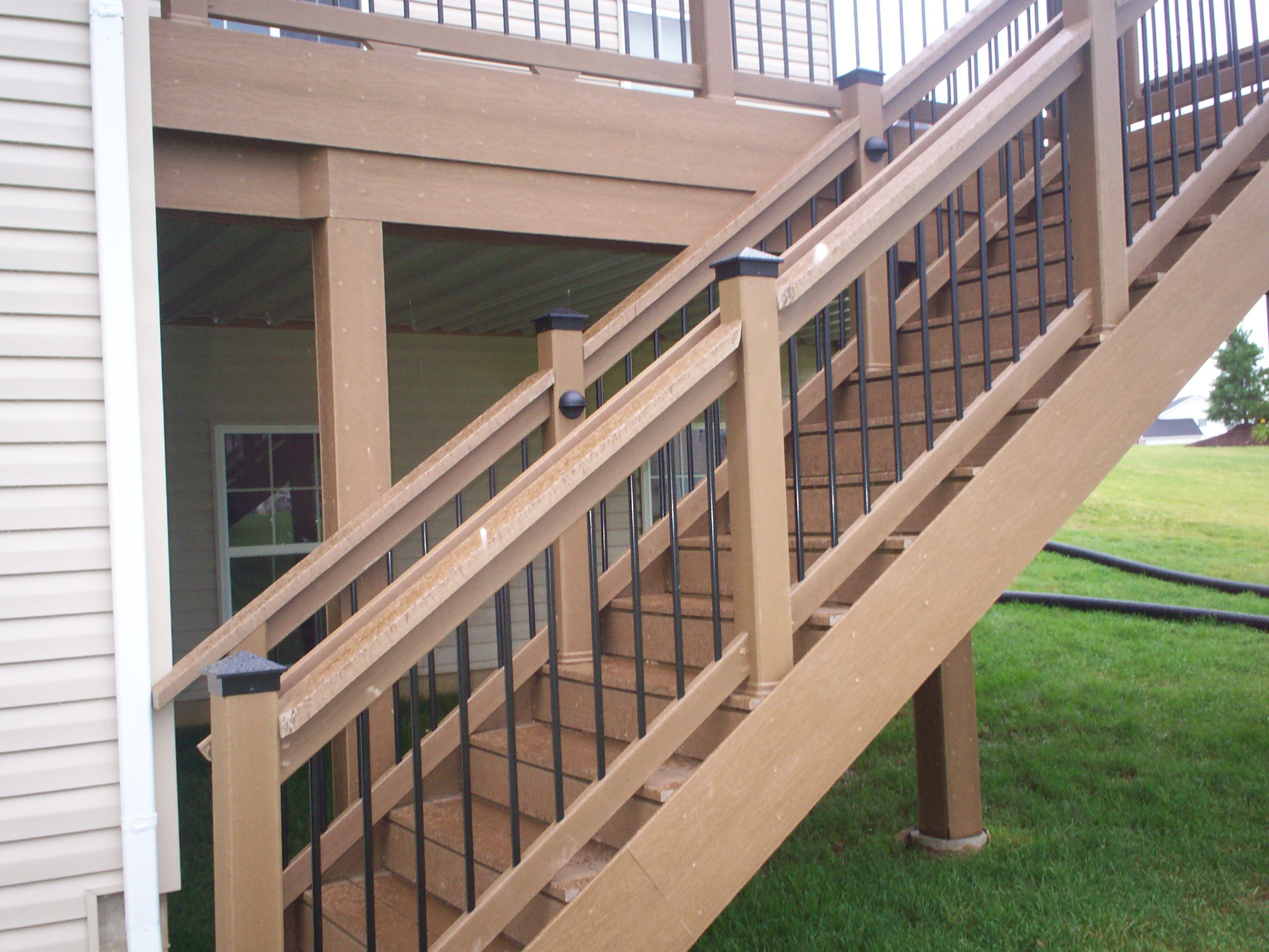 stair elegant glass best kits beautiful interior porch railing