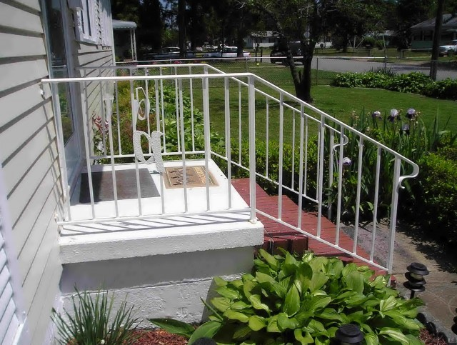 Porch Stair Railing Installation
