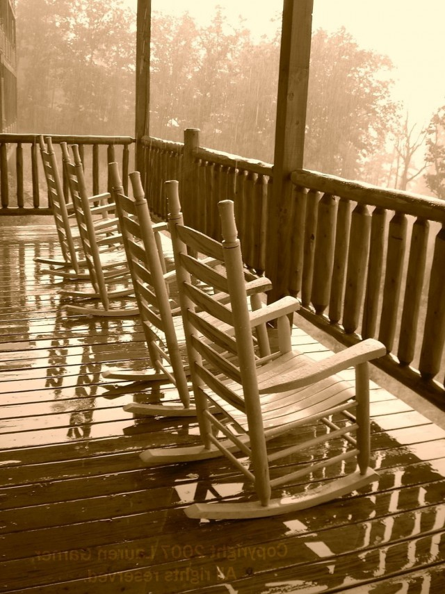 Rocking Chair On Porch Drawing