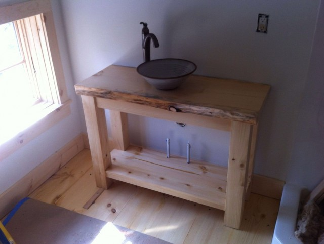 Rustic Bathroom Vanity With Vessel Sink