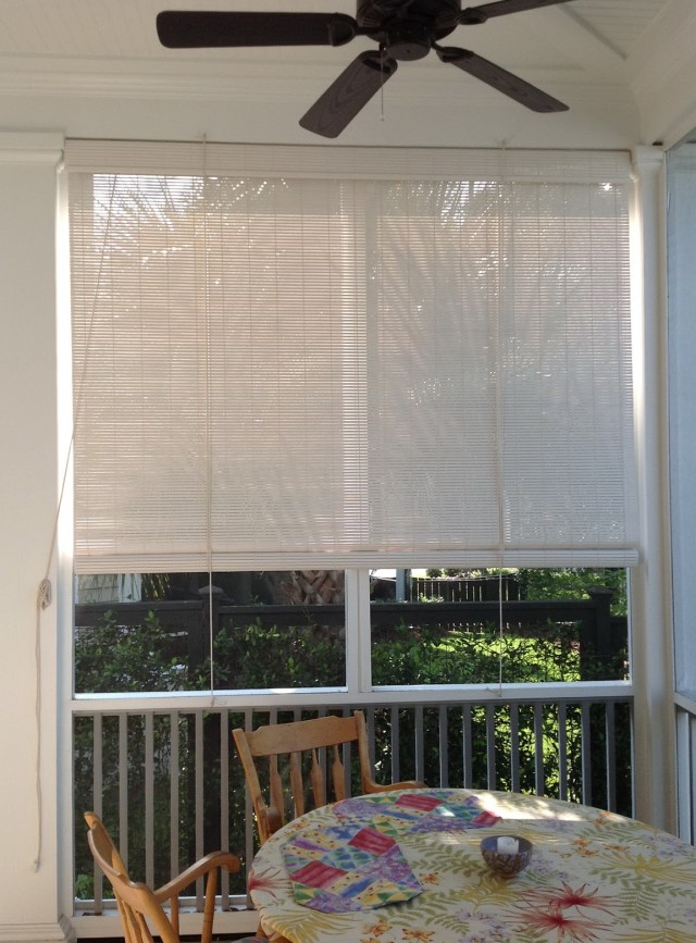 com porch blind slp rollup for oval long by inch pvc blinds amazon wide outdoor woodgrain hyman vinyl lewis