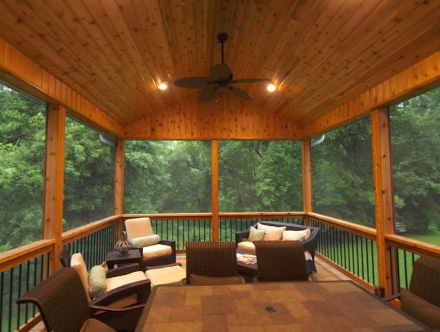 Screen Porch Furniture Arrangements