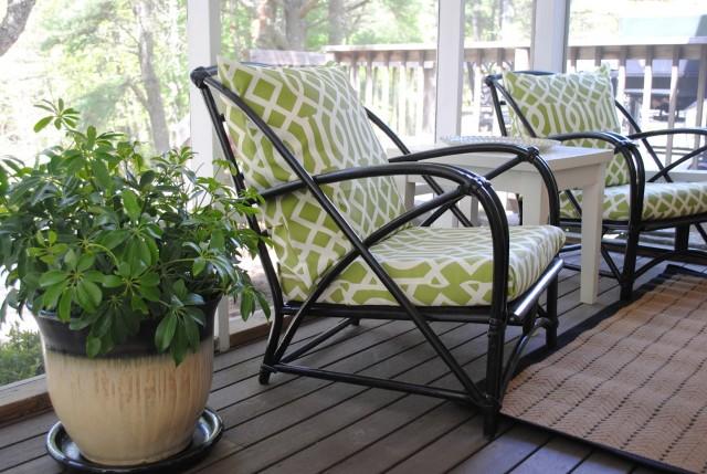 Screen Porch Furniture Layout