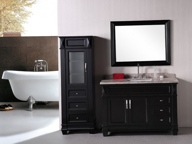 Single Bathroom Vanity With Drawers