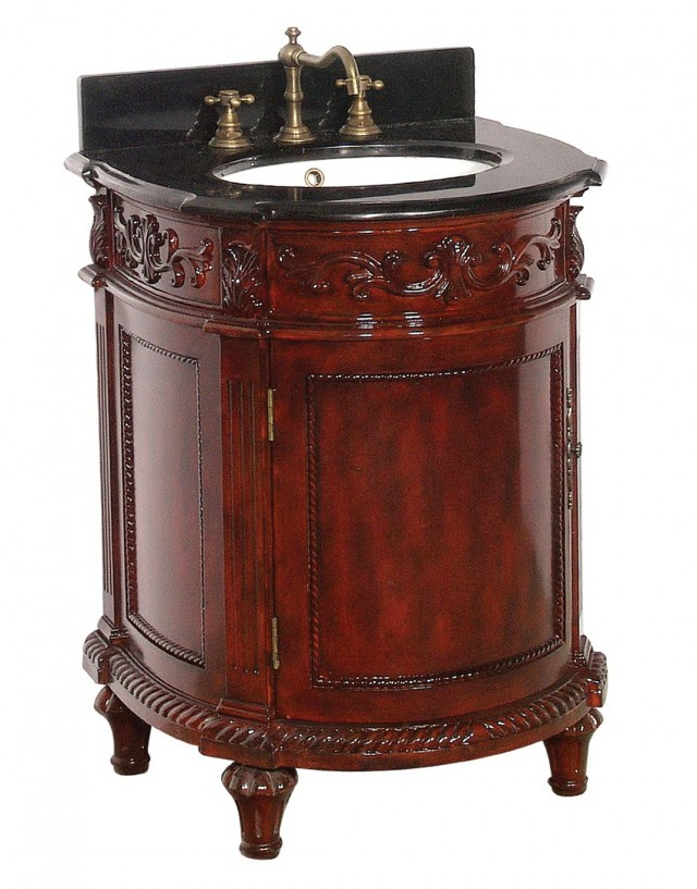 Small Antique Bathroom Vanity