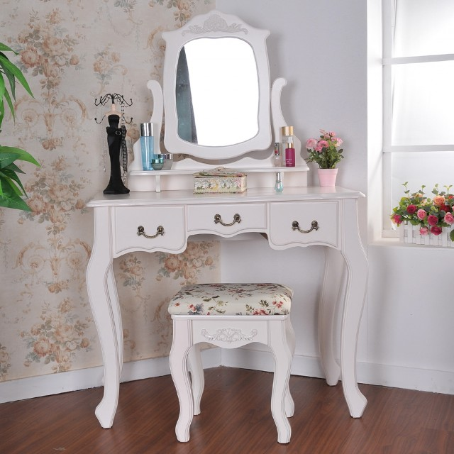 Small Corner Vanity Table