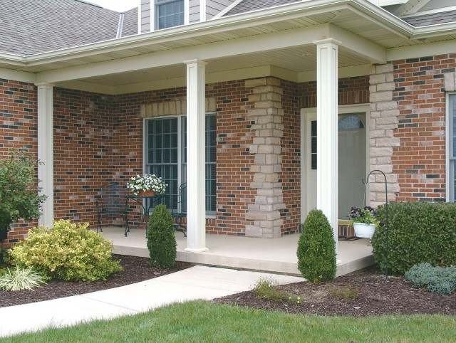 Square porch columns lowes home design ideas for Columns for house exterior