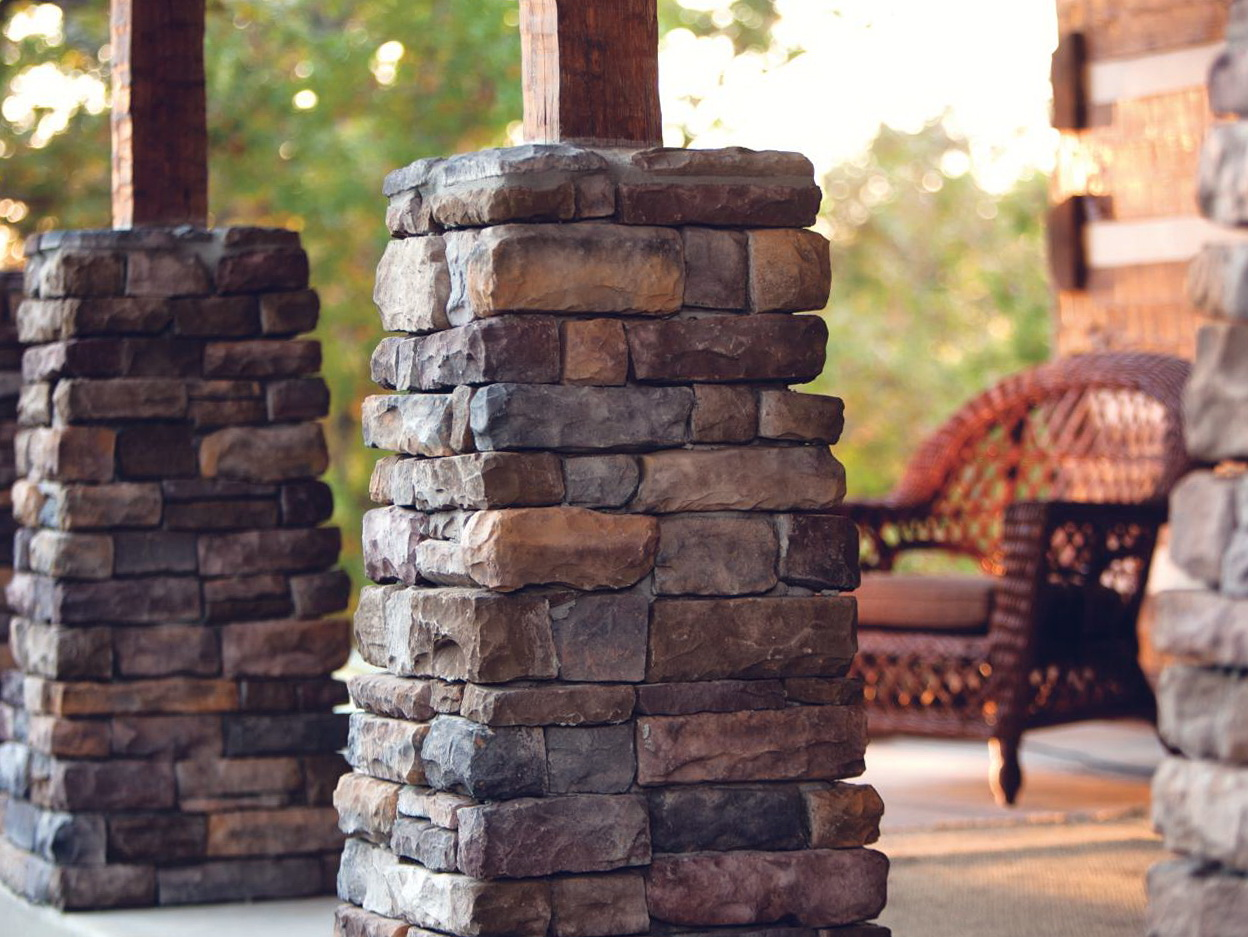 stone and wood porch columns home design ideas. Black Bedroom Furniture Sets. Home Design Ideas