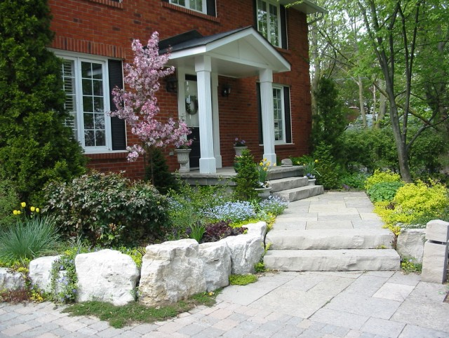 Stone Front Porch Steps