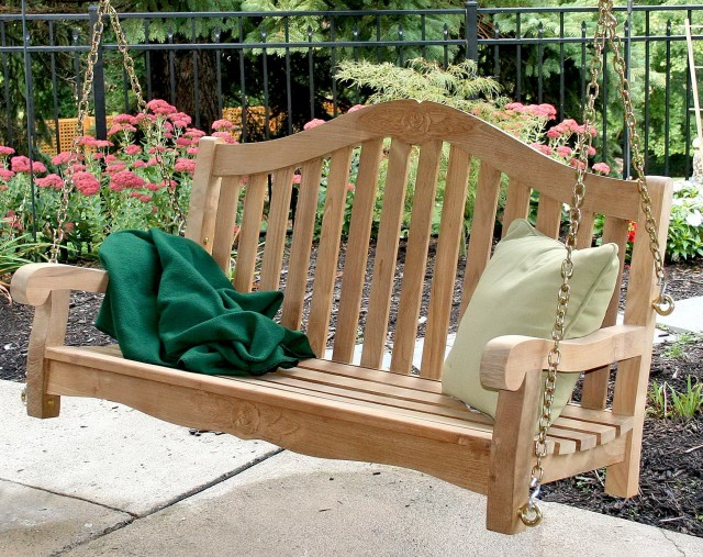 Teak Porch Swing Kit