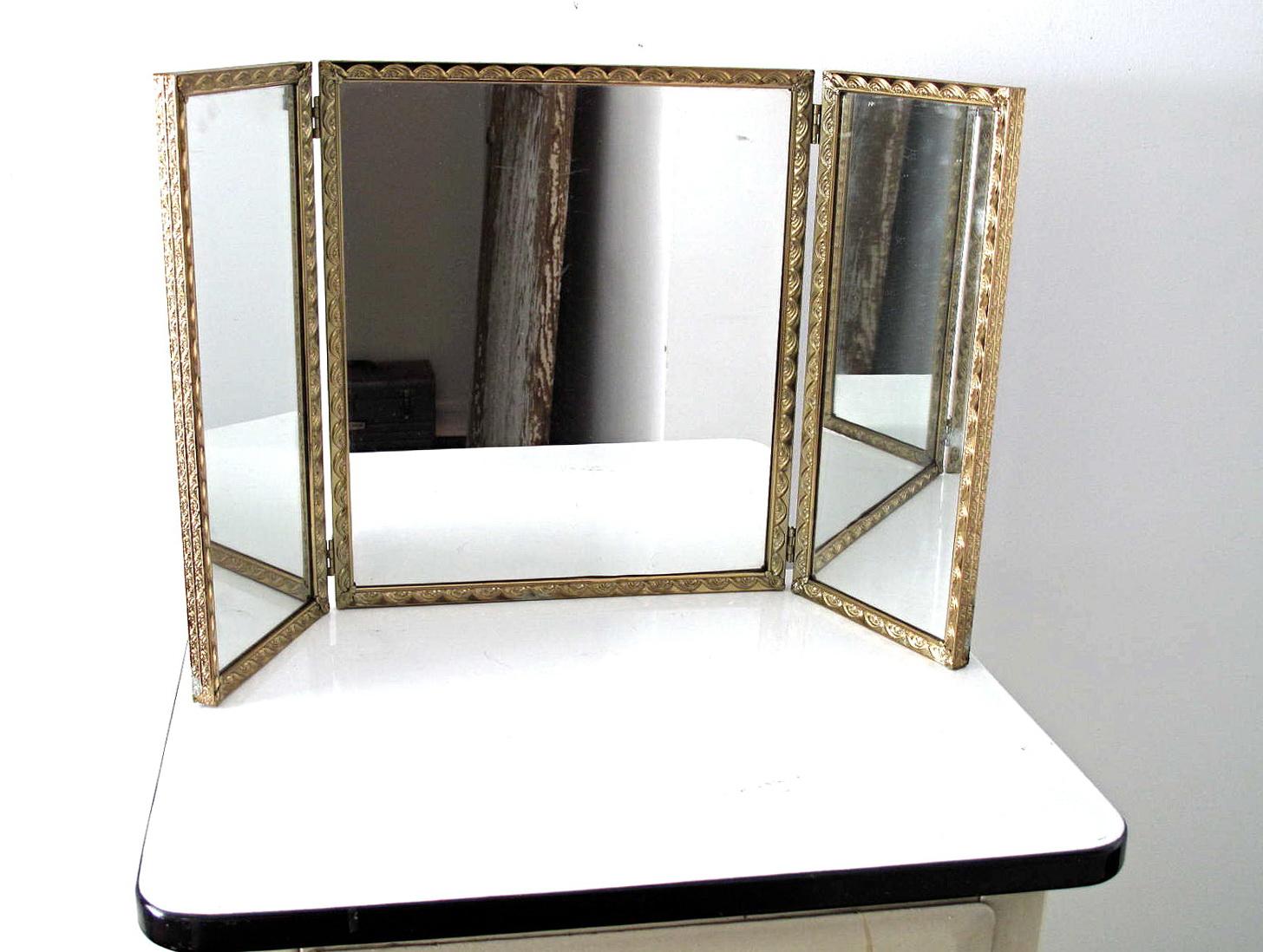 Tri Fold Vanity Mirrors Bathroom | Home Design Ideas