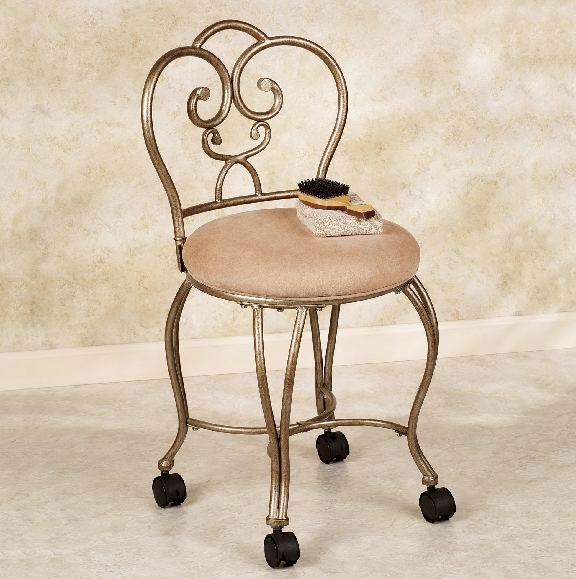 Vanity Chair For Bathroom With Wheels Home Design Ideas